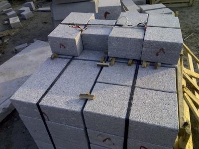 G375 Grey granite cube stone