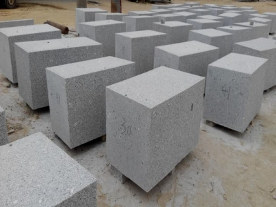 G375 granite base and cuved garden wall