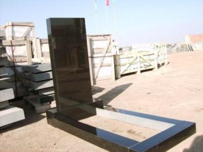 shanxi black granite straight tombstones