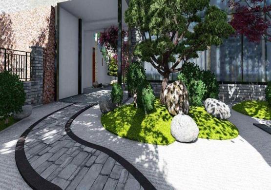 walking way paver stone